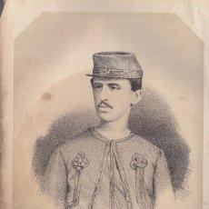 Arte: CARLISMO. DON ALFONSO DE BORBÓN. LITOGRAFÍA DE N. GONZÁLEZ, MADRID, ORIGINAL, C. 1870.. Lote 86301628