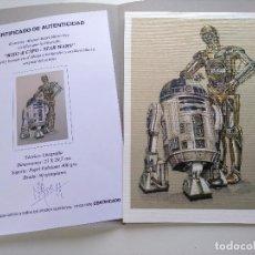 Arte: LITOGRAFÍA EDICIÓN ESPECIAL R2D2 & C3PO -STAR WARS-. AUTOR: M. ALFARO. Lote 195502903