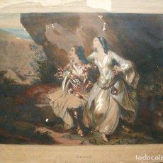 Arte: ACHILLE DEVERIA 1800 - 1857 LITOGRAFÍA COLOREADA 41 X 32 CM.. Lote 87122440