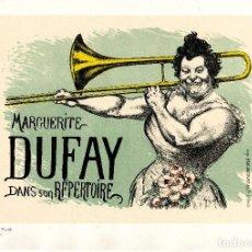 Arte: ANQUETIN L. MARGUERITE DUFAY. LITOGRAFÍA ORIGINAL DE MAITRES DE L'AFFICHE N°150. 1899. Lote 88795288
