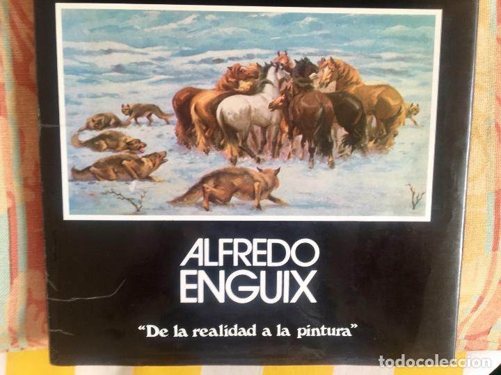 Arte: Dibujo litografico pavos reales original pintor Alfredo Enguix lamina 80/250 20x13,5 cm - Foto 6 - 88857864