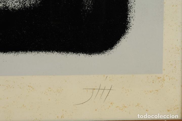 Arte: Litografía 22/50 Figura firma ilegible siglo XX - Foto 4 - 88993240