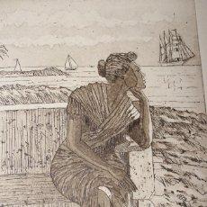 Arte: LITOGRAFIA LA BELLA LOLA MANUEL BALAGUER CON CERTIFICADO DE ESTAMPACION. Lote 89674116