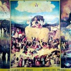Arte: CARTEL LAMINA LITOGRAFIA DE OBRA DEL - BOSCO - EL CARRO DE HENO - DEL MUSEO DEL PRADO MADRID 1977.. Lote 91202050