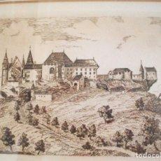 Art: LITOGRAFIA CASTILLO DE LENZBURG - SUIZA NUM 30 DE 100 FIRMADA POR BADER O RADER. Lote 92370780
