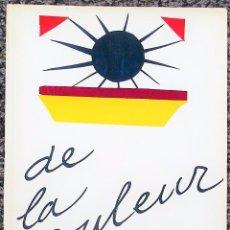 Arte: DE LA COULEUR. HENRI MATISSE.. Lote 93342965