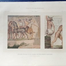 Arte: LITOGRAFIA MOSAICOS ROMANOS LLAMADOS PORTATILES PENSILES O PARIETARIOS.. Lote 94276533