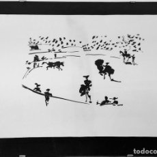 Arte: EL TORO SALE DEL TORIL. LITOGRAFIA DE UN ORIGINAL DE PICASSO. NO. 243. HOSTENCH S.A. ESPAÑA. 1996. Lote 94655771