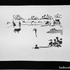 Arte: CITANDO CON BANDERILLAS. LITOGRAFIA DE UN ORIGINAL DE PICASSO. NO. 246. HOSTENCH S.A. ESPAÑA. 1996. Lote 94658667