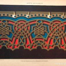 Arte: LITOGRAFÍA DEL SXIX-DETALLES DECORATIVOS DE LA ALHAMBRA DE GRANADA. Lote 94737539