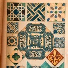 Arte: LITOGRAFÍA DE AZULEJOS ÁRABES Y CATALANES DEL LOS S XIII,XIV, XV Y XVI. Lote 94807691
