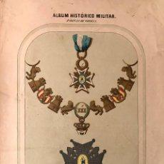 Arte: LITOGRAFÍA PERTENECIENTE AL ALBUM HISTÓRICO MILITAR. Lote 95077043
