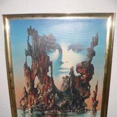 Arte: IMPRESION GRAFICA SOBRE LIENZO - FIRMADO G PELLIZZPNI - COMPOSICION ABSTRACTA. Lote 95136651