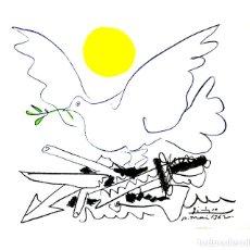 Arte: PABLO PICASSO MUNDO SIN ARMAS LITOGRAFÍA FIRMADA FECHADA PLANCHA 1962 EDITIONS COMBAT POUR LA PAIX. Lote 31260859
