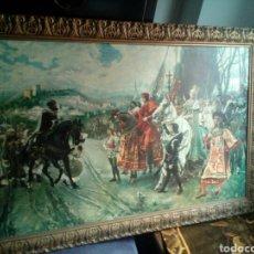 Arte: CUADRO RENDICION DE GRANADA..LITOGRAFIA DE LOS AÑOS 50-60. Lote 95894162