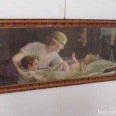 Arte: CUADRO DE FR. LAUBNITZ - LITOGRAFIA - MODERNISTA - ÁNGEL DE LA GUARDA - AÑOS 20. Lote 96292291