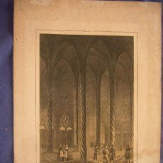Arte: GRABADO ORIGINAL DE PARCERISA (1850): - MALLORCA. INTERIOR DE LA LONJA -. Lote 96687695
