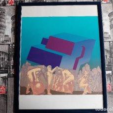 Arte: LITOGRAFIA ENMARCADA DEL PINTOR ANTONIO ALEGRE CREMADES, FIRMADA Y NUMERADA, 78/100.. Lote 96969059