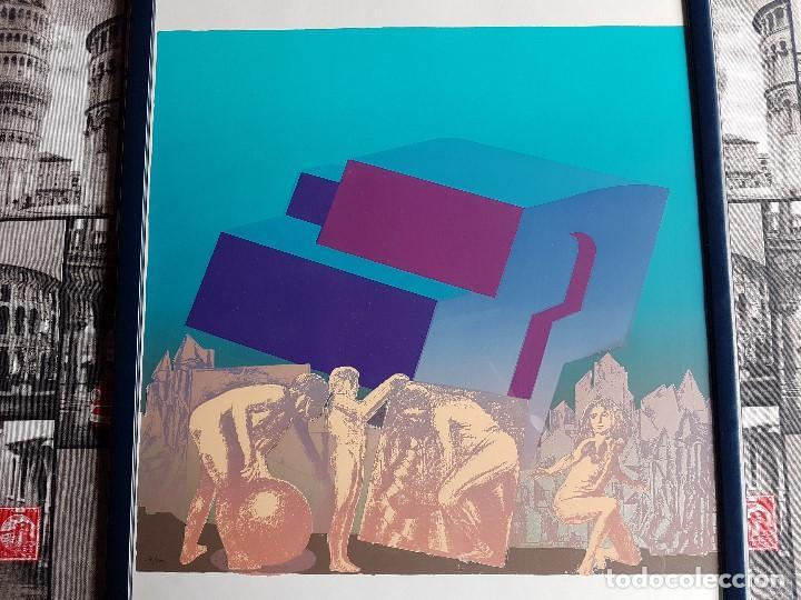 Arte: Litografia enmarcada del pintor Antonio Alegre Cremades, firmada y numerada, 78/100. - Foto 2 - 96969059