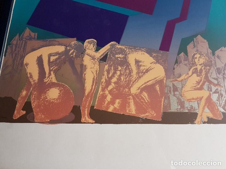 Arte: Litografia enmarcada del pintor Antonio Alegre Cremades, firmada y numerada, 78/100. - Foto 5 - 96969059