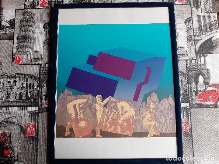 Arte: Litografia enmarcada del pintor Antonio Alegre Cremades, firmada y numerada, 78/100. - Foto 11 - 96969059