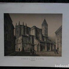 Arte: EXTERIOR DE LA IGLESIA DE LA ANTIGUA - VALLADOLID - LITOGRAFIA - PARCERISA - 1861 - 31X23CM. Lote 97508035