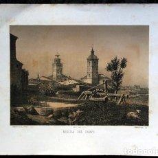 Arte: MEDINA DEL CAMPO - VALLADOLID - LITOGRAFIA - PARCERISA - 1861 - 31,5X23CM. Lote 97508647
