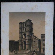 Arte: TORRE DE LA YGLESIA DE SAN BENITO - VALLADOLID - LITOGRAFIA - PARCERISA - 1861 - 32X23CM. Lote 97509635