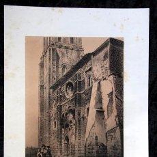 Arte: IGLESIA DE VILLAMURIEL CERRATO - PALENCIA - LITOGRAFIA - PARCERISA - 1861 - 31X21,5CM. Lote 97577255
