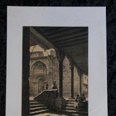 Arte: PARROQUIA IGLESIA DE SAN MARTIN - SALAMANCA - 1865 - ORIGINAL - PARCERISA - LITOGRAFIA - 29,5X21CM. Lote 97579079