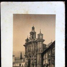 Arte: IGLESIA SAN JUAN DE LETRAN - VALLADOLID - LITOGRAFIA ORIGINAL EPOCA - PARCERISA - 1861 - 31X23CM. Lote 97580679