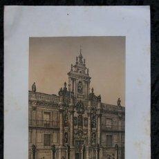 Arte: UNIVERSIDAD - VALLADOLID - LITOGRAFIA ORIGINAL EPOCA - PARCERISA - 1861 - 32X23CM. Lote 97603667