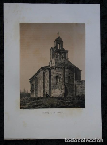 IGLESIA DE ARROYO DE LA ENCOMIENDA - VALLADOLID - LITOGRAFIA ORIGINAL EPOCA - PARCERISA - 1861 - 31 (Arte - Litografías)