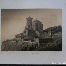 Arte: COLEGIATA DE TORO - ZAMORA - LITOGRAFIA ORIGINAL EPOCA - PARCERISA - 1861 - 29X22,5CM. Lote 97607983