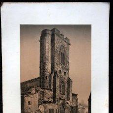 Arte: IGLESIA SAN MIGUEL - PALENCIA - LITOGRAFIA ORIGINAL EPOCA - PARCERISA - 1861 - 32X22,5CM. Lote 97608995