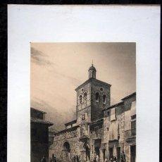 Arte: IGLESIA DE SANTIAGO - CARRION - PALENCIA - LITOGRAFIA ORIGINAL EPOCA - PARCERISA - 1861 - 32,5X21CM. Lote 97609719