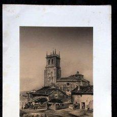 Arte: VILLAMURIEL DE CERRATO - PALENCIA - LITOGRAFIA ORIGINAL EPOCA - PARCERISA - 1861 - 32,5X22,5CM. Lote 97610603
