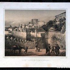 Arte: PALACIO Y CASTILLO SAN LUCAR DE BARRAMEDA - LITOGRAFIA ORIGINAL EPOCA - PARCERISA - 1856 - 32X21,5CM. Lote 97615151