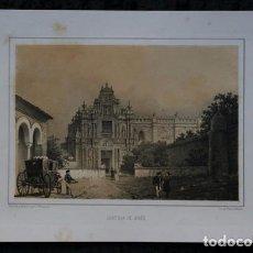 Arte: CARTUJA DE JEREZ - CADIZ - LITOGRAFIA ORIGINAL EPOCA - PARCERISA - 1856 - 32X21,5CM. Lote 97615959