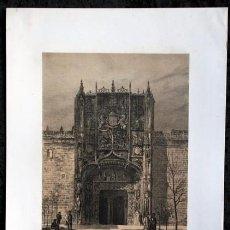 Arte: COLEGIO DE SAN GREGORIO - VALLADOLID - LITOGRAFIA ORIGINAL EPOCA - PARCERISA - 1861 - 31.5X22CM. Lote 97616531