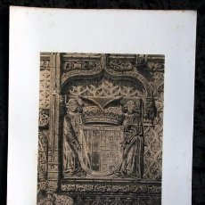 Arte: PORTADA IGLESIA SAN PABLO - VALLADOLID - LITOGRAFIA ORIGINAL EPOCA - PARCERISA - 1861 - 32X22CM. Lote 97656479
