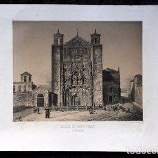 Arte: IGLESIA DE SANTO TOMAS - SAN PABLO - VALLADOLID - LITOGRAFIA ORIGINAL - PARCERISA - 1861 - 32X23. Lote 97656879