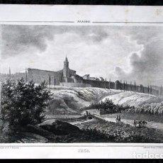 Arte: JACA - LITOGRAFIA ORIGINAL EPOCA - PARCERISA - CIRCA 1850 - 29X19CM. Lote 97691711