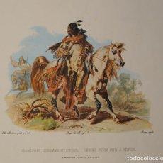 Arte: LOTE 8 LITOGRAFIAS DE KARL BODMER IMP DE BOUGEARD INDIANS.. Lote 98140371
