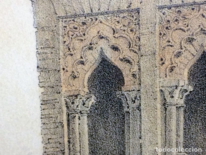 Arte: PLAZA CON IGLESIA ESTILO MUDÉJAR. LITOGRAFÍA A COLOR. ESPAÑA. SIGLO XIX - Foto 8 - 98208355