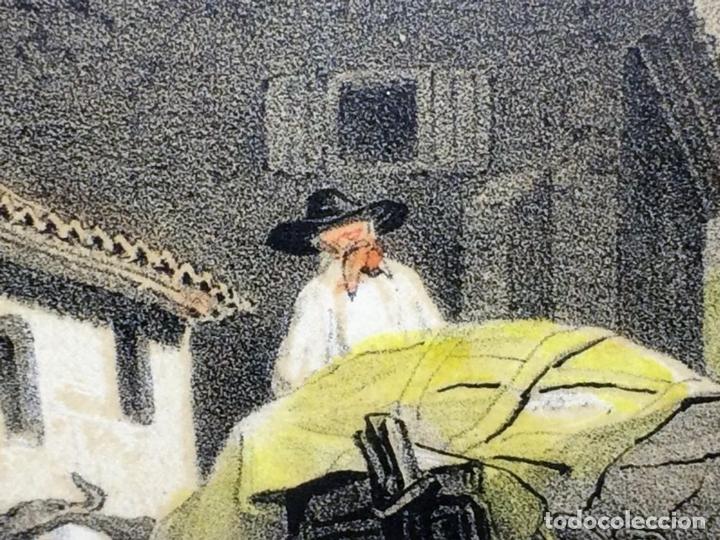 Arte: PLAZA CON IGLESIA ESTILO MUDÉJAR. LITOGRAFÍA A COLOR. ESPAÑA. SIGLO XIX - Foto 9 - 98208355