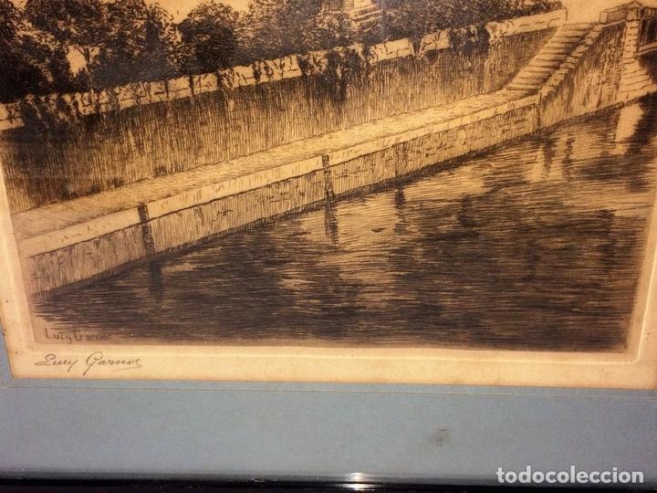Arte: NOTRE DAME DE PARIS. LITOGRAFIA SOBRE PAPEL. FIRMA AUTÓGRAFA. LUCY GARRIOL. XX - Foto 3 - 98476111