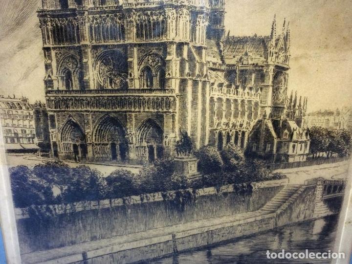 Arte: NOTRE DAME DE PARIS. LITOGRAFIA SOBRE PAPEL. FIRMA AUTÓGRAFA. LUCY GARRIOL. XX - Foto 4 - 98476111