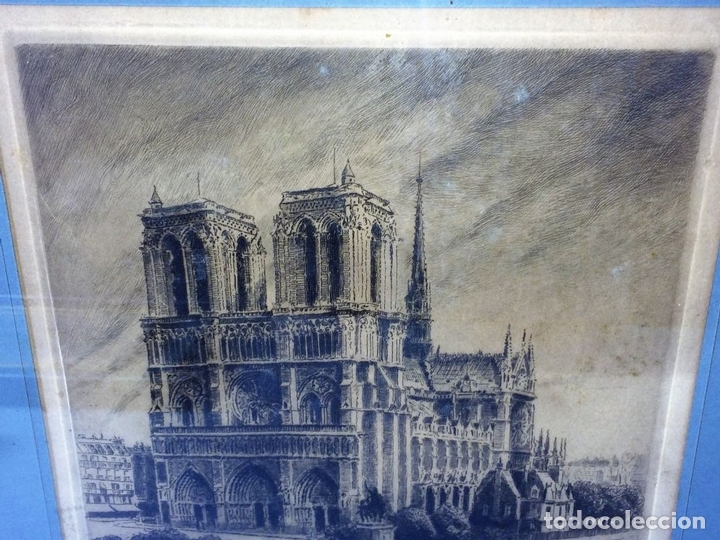 Arte: NOTRE DAME DE PARIS. LITOGRAFIA SOBRE PAPEL. FIRMA AUTÓGRAFA. LUCY GARRIOL. XX - Foto 5 - 98476111
