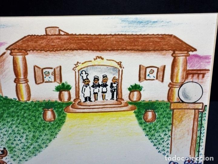 Arte: FILOSOFÍA PASAJERA. LITOGRAFÍA A COLOR. 237/300. FIRMADO X. CUGAT. ESPAÑA. XX - Foto 6 - 98477263
